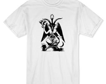 Goat God Baphomet  Men's White T-shirt