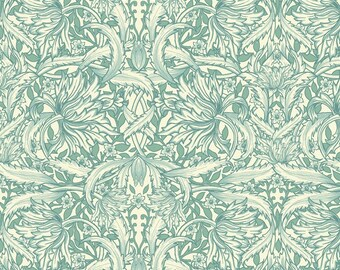 Circle Leaves from Paris Spring by David Textiles. 100% Cotton