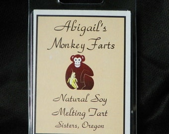 Monkey Farts Handmade Natural Soy Melting Tarts by Abigail's on Main