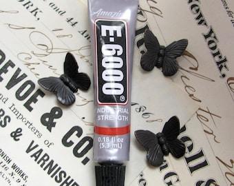 Mini E6000 Glue, industrial strength adhesive (5.3 ml)  .18 fluid ounce sample size, small tube, craft glue