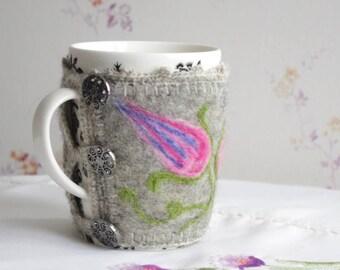 Felt cup cozy, cup warmer, cup cozy, wool cup cozy, coffee mug cozy, cup warmer, wool mug cozy, coffee cozy,felt mug cozy, cup cloth