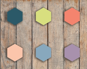 192 Mini Hexagons, Hex Shape Icon Stickers for 2018 inkWELL Press Planners IWP-Q7