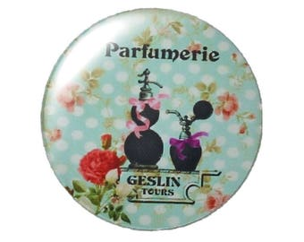 Set of 2 perfume round glass cabochons 30mm
