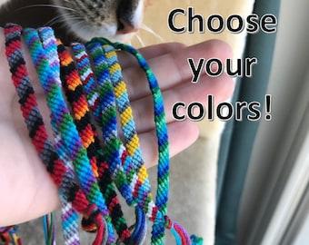 Striped String Friendship Bracelets! (Custom)