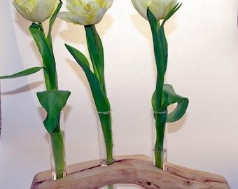 Wooden branch split wood test tube vase flower holder