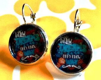 Follow Your Dreams cabochon earrings- 16mm