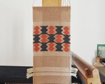 Handwoven wall hanging/ Cotton & Linen/ Loom work/ Fiber art