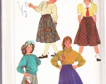 Simplicity 7243 CLEARANCE Vintage Pattern Girls Skirts In Three Variations Size 14 UNCUT