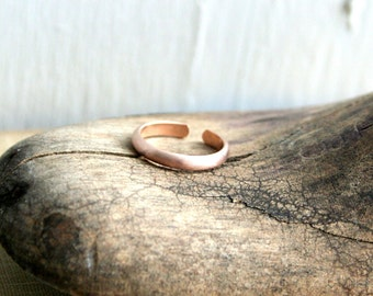 Matte 14K Rose Gold Fill Toe Ring, Knuckle ring, Midi Ring- Wide Half Round -2.5mm