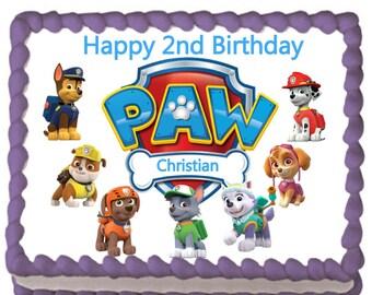 PAW Patrol Pups Edible Cake Topper