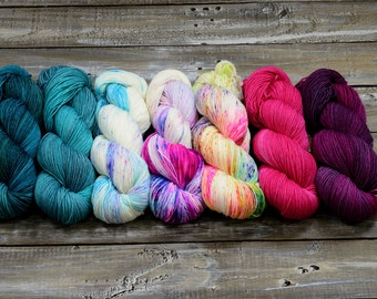Yarn color KIT, Find Your Fade -  7 skeins combo - Pirates of the caribbean