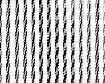 Ticking Stripe Curtain Panels Black and White Stripe Curtains Window Treatments Kitchen Farmhouse Country Drapery Custom Drapes