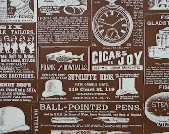 Vintage Gift Wrap 1970s Happy Birthday Wrapping Paper-1 Sheet- Cigars of Joy?