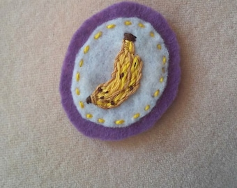 Banana (Patch, Pin, Brooch, or Magnet)