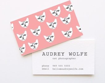 Cat Attack Business Cards // DIY Business Cards // Printable Business Cards // Instant Download Business Cards // WORD FILES