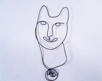 Smiling Cat Wire Wall Potytsiy Drawing Original