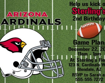 Arizona Cardinals Football Invitation OR Thank you card