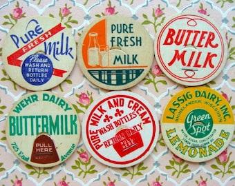 Vintage Milk Caps Cream of the Crop Farmhouse N0 25