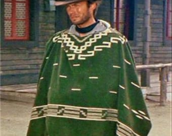 Clint Eastwood Style Spaghetti Western Cowboy Poncho Costume