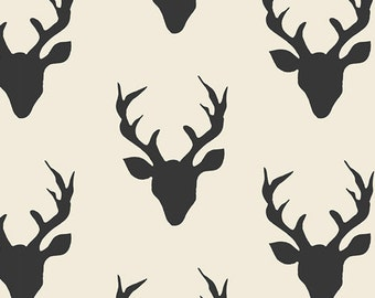 Hello Bear Buck Forest Night Art Gallery Fabric