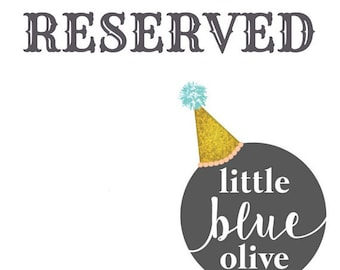 Reserved strawberry party hat