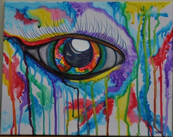 Eye cry color