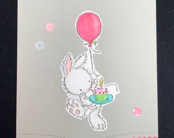 Celebrate You Bunny Greeting Card