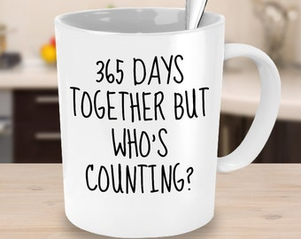St anniversary mug etsy