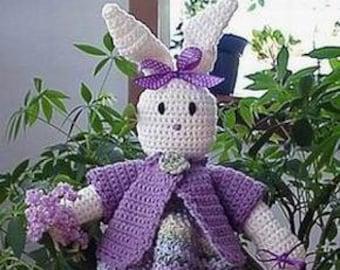 Bunny CROCHET PATTERN Blossom Bunny DOORSTOP