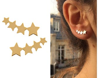 Rising earrings shooting stars - Ear cuff