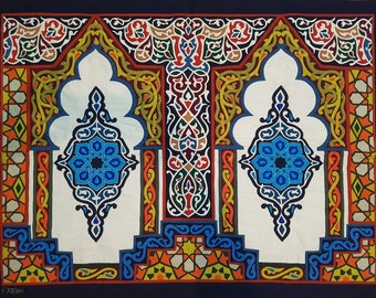 Fattoh Shop, Oriental and Glorious Traditional Arabian design by Tentmakers. This masterpiece of hand-stitched appliqué Tentmakers of Cairo.