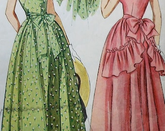 Vintage Dress Sewing Pattern Simplicity 2898 Size 11