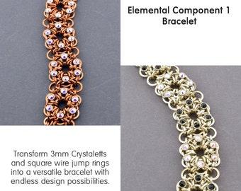 Chainmaille Tutorial elementare Komponente 1 mit Crystaletts