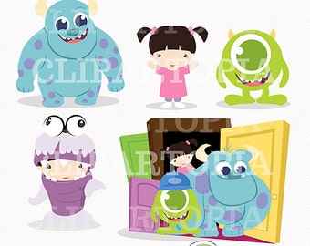 Monsters Digital Clipart for Personal and Commercial Use / INSTANT DOWNLOAD