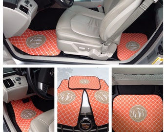 Car Accessories for Women | Car Mats | Car Accessories for Women | Custom Design | Car Accessories | Monogram Car Mats |  Car Accessories
