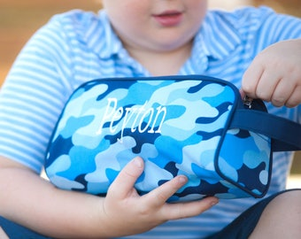 Monogrammed Cool Camo toiletry/pencil case