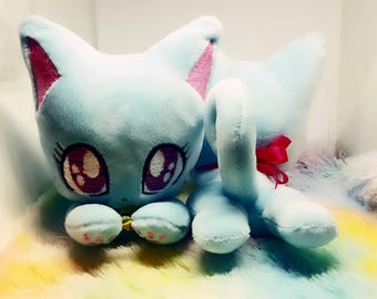 Ready to Ship Blue Cat Plush