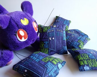3 Dr Who Catnip Cat Toys
