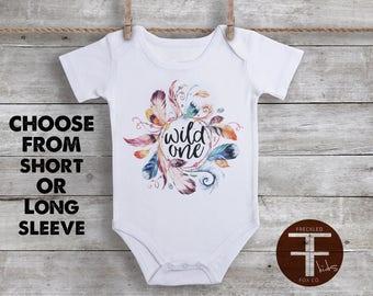 Wild One ONESIE®, Boho Baby Clothes, Take Home Outfit For Girl, Baby Girl Coming Home Outfit, Baby Girl Take Home Outfit, Boho Onesie