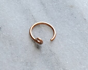 18 gauge Helix/ Cartilage /Conch Cuff. Fake Ear Cuff. 925 Sterling Silver, 14K Gold Filled , Rose Gold Filled.