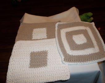 Coco and Cream dishcloths a set of 3 new