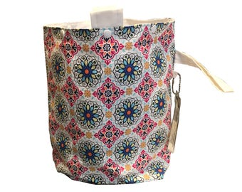 Flower Mandalas Project Bag Bucket Bag extra tall