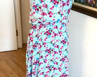 Mint floral maxi dress racer back halter maxi dress summer dress