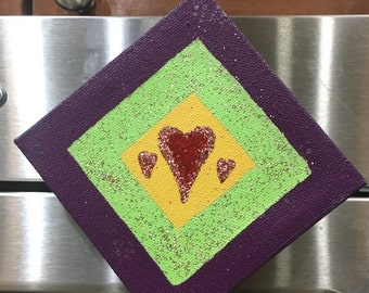 Heart Canvas Magnet