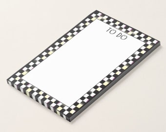 4x6 Post It Notes / TO DO Post It Notes / Checkered Border Post It Notes / Note pad
