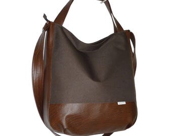 5463, dark brown bag, dark brown crossbody bag, dark brown shopperbag, xxl bag dark brown, dark brown crossover bag, brown leather tote bag