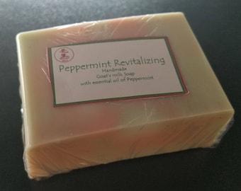 Peppermint Revitalizing Handmade Goats milk Soap