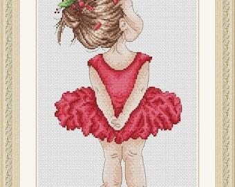 "Cross stitch pattern ""Little ballerina"""