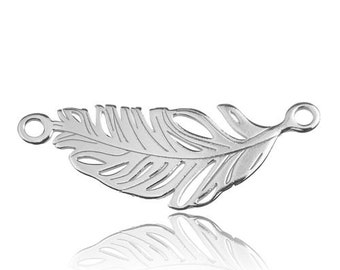 Connector Feather Sterling Silver 925