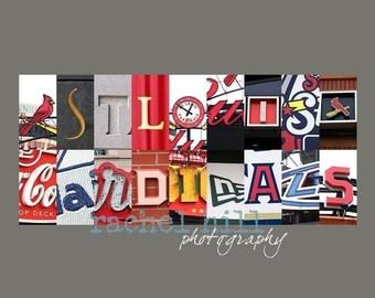 St. Louis Cardinals Letter Art 8x10 print